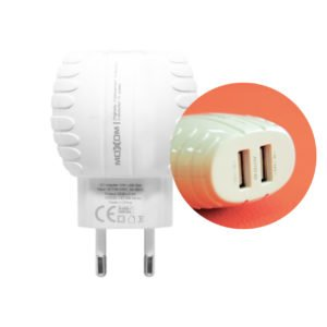 Chargeur MOXOM MX-HC02 2in1 Lightning 5V – iOS, Android, Type C